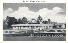 MTL011279 - To Rena Motel, Starke, Florida, FL USA Hotel Postcard Motel Post Card Old Vintage Antique