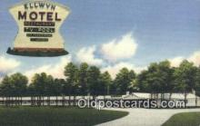 MTL011283 - Ellwyn Motel, Petersburg, Virginia, VA USA Hotel Postcard Motel Post Card Old Vintage Antique