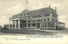MTL011290 - Hotel Pilgrim, Plymouth, Massachusetts, MA USA Hotel Postcard Motel Post Card Old Vintage Antique