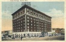 MTL011300 - Hotel Portage, Akron, Ohio, OH USA Hotel Postcard Motel Post Card Old Vintage Antique