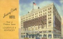 MTL011311 - Henry Clay Hotel, Louisville, Kentucky, KY USA Hotel Postcard Motel Post Card Old Vintage Antique
