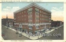 MTL011312 - Hotel Eau Claire, Eau Claire, Wisconsin, WI USA Hotel Postcard Motel Post Card Old Vintage Antique