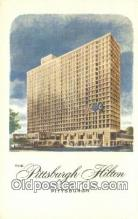 MTL011313 - The Pittsburgh Hilton, Pittsburgh, Pennsylvania, PA USA Hotel Postcard Motel Post Card Old Vintage Antique