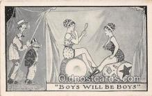 mak000195 - Boys Will Be Boys  Postcard Post Card