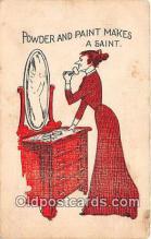 mak000197 - Powder & Paint Makes a Saint  Postcard Post Card