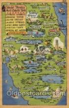 map001013 - Florida, USA Map, Maps Postcard Postcards