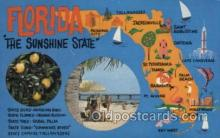map001042 - Florida, USA Map, Maps Postcard Postcards