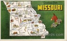 map001053 - Missouri, USA Map, Maps Postcard Postcards