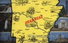map001057 - Arkansas, USA Map, Maps Postcard Postcards