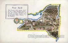 map001060 - New York, USA Map, Maps Postcard Postcards