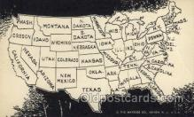 map001062 - Map of USA Map, Maps Postcard Postcards