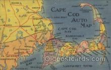 map001065 - Cape Cod, Mass, USA Map, Maps Postcard Postcards