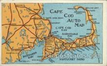 map001081 - Cape Cod, Mass, USA Map, Maps Postcard Postcards