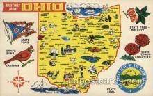 map001105 - Ohio, USA Map, Maps Postcard Postcards