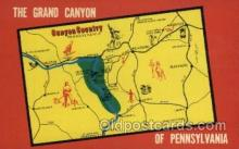 map001117 - Pennsylvania, USA Map, Maps Postcard Postcards