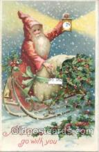 mec001001 - Mechanical Santa Claus Postcard Postcards