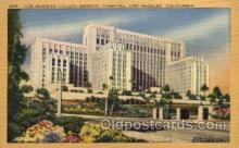 med100001 - Los Angeles County General Hospital, Los Angelas, California, Medical Hospital Postcard Postcards