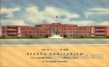 med100003 - Spears Sanitarium, Denver Colorado Co, USA, Chiropractic Institution, Medical Hospital Postcard Postcards