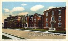 med100009 - Methodist Hospital, Des Moins, Iowa, USA, Medical Hospital Postcard Postcards