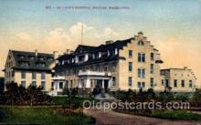 med100010 - St. Luke's Hospital, Spokane, Washington, USA, Medical Hospital Postcard Postcards