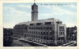 med100011 - St. Joseph Hospital, Ashland, Wisconsin, USA, Medical Hospital Postcard Postcards