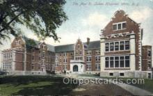 med100015 - St. Lukes Hospital, Utica, New York, NY USA, Medical Hospital Postcard Postcards