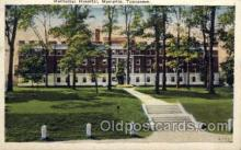 med100019 - Methodist Hospital, Memphis Hospital Memphis Tennessee, Tenn, USA, Medical Hospital Postcard Postcards