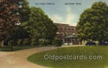 med100023 - Walthan, Massachusetts, Mass, USA, Medical Hospital Postcard Postcards