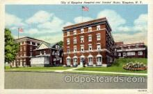 med100026 - City of Kingston Hospital and Nurses Home, Kingston, NY USA, Medical Hospital Postcard Postcards