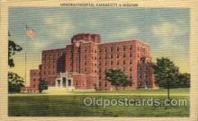 med100028 - Menorah Hospital, Kansas City, Missouri, USA, Medical Hospital Postcard Postcards