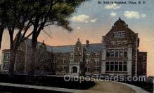 med100049 - St. Lukes Hospital, Utica, New York, NY USA, Medical Hospital Postcard Postcards