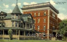 med100054 - Mercy Hospital Buildings, Wiles Barre, PA, USA, Medical Hospital Postcard Postcards