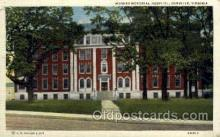 med100056 - Hughes Memorial Hospital, Danville, Virginia, USA, Medical Hospital Postcard Postcards