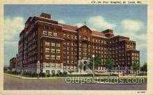 med100057 - De Paul Hospital, St. Louis, Missouri, Mo. USA Medical Hospital Postcard Postcards