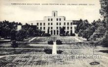 med100063 - Tuberculosis Sanatorium, Colorado Springs, CO, USA, Medical Hospital Postcard Postcards