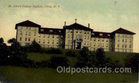 med100072 - St. John's Orphan Asylum, Utica, New York, USA, Postcard Postcards