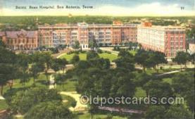 med100082 - Santa Rosa Hospital, San Antonio, Texas Medical Hospital, Sanitarium Postcard Postcards