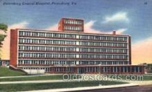 med100086 - Petersburg General Hospital, Petersburg, VA Medical Hospital, Sanitarium Postcard Postcards