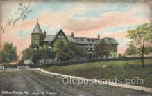 med100088 - C & O Hospital, Clifton Forge, VA Medical Hospital, Sanitarium Postcard Postcards