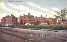 med100089 - St. Louis City Hospital, St. Louis, MO Medical Hospital, Sanitarium Postcard Postcards