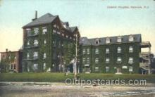 med100093 - General Hospital, Paterson, NJ Medical Hospital, Sanitarium Postcard Postcards