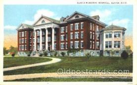 med100124 - Elyria Memorial Hospital, Elyria, Ohio Medical Hospital, Sanitarium Postcard Postcards