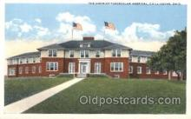 med100135 - District Tubercular Hospital, Chillicothe, OH Medical Hospital, Sanitarium Postcard Postcards