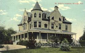 med100138 - St. Mary's Hospital, Orange, NJ Medical Hospital, Sanitarium Postcard Postcards