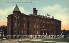 med100142 - St. Luke's Hospital, St. Paul, MN Medical Hospital, Sanitarium Postcard Postcards