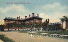 med100144 - City Hospital, St. Paul, MN Medical Hospital, Sanitarium Postcard Postcards
