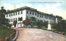 med100146 - St. Francis Hospital, Santa Barbara, CA Medical Hospital, Sanitarium Postcard Postcards