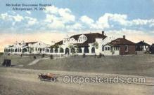 med100161 - Methodist Deaconess Hospital, Albuquerque, NM Medical Hospital, Sanitarium Postcard Postcards