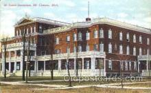 med100166 - St. Joseph Sanitarium, Mt. Clemens, MI Medical Hospital, Sanitarium Postcard Postcards