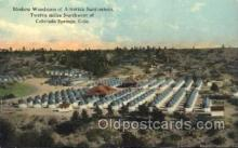 med100174 - Modern Woodmen of America Sanitarium, Colorado Springs, CO Medical Hospital, Sanitarium Postcard Postcards